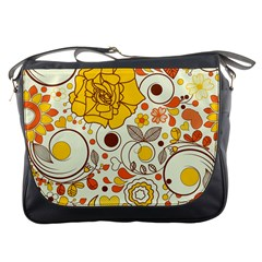 Cute Fall Flower Rose Leaf Star Sunflower Orange Messenger Bags