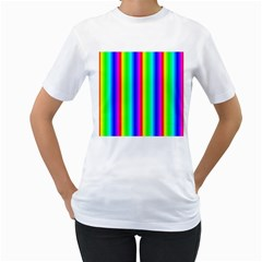 Rainbow Gradient Women s T Shirt (white) (two Sided)
