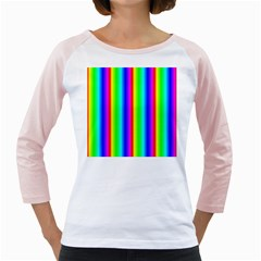 Rainbow Gradient Girly Raglans