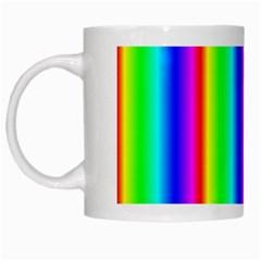 Rainbow Gradient White Mugs