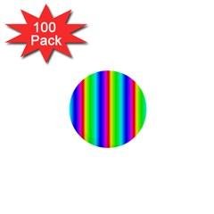 Rainbow Gradient 1  Mini Buttons (100 Pack)