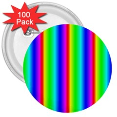 Rainbow Gradient 3  Buttons (100 Pack)