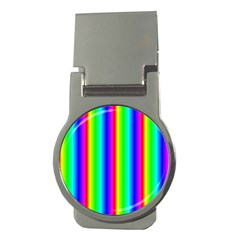 Rainbow Gradient Money Clips (round)