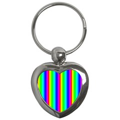 Rainbow Gradient Key Chains (Heart)
