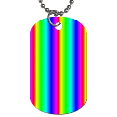Rainbow Gradient Dog Tag (Two Sides)