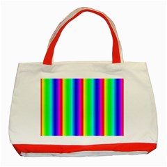 Rainbow Gradient Classic Tote Bag (Red)