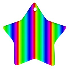 Rainbow Gradient Star Ornament (two Sides)
