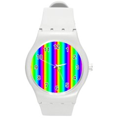 Rainbow Gradient Round Plastic Sport Watch (M)