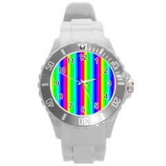 Rainbow Gradient Round Plastic Sport Watch (L)
