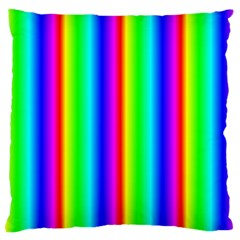 Rainbow Gradient Large Cushion Case (One Side)