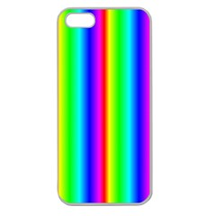 Rainbow Gradient Apple Seamless iPhone 5 Case (Clear)