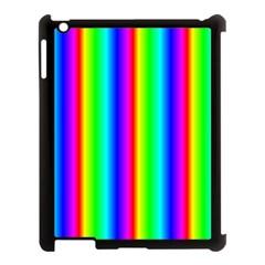 Rainbow Gradient Apple iPad 3/4 Case (Black)