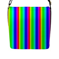 Rainbow Gradient Flap Messenger Bag (l)