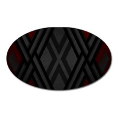 Abstract Dark Simple Red Oval Magnet