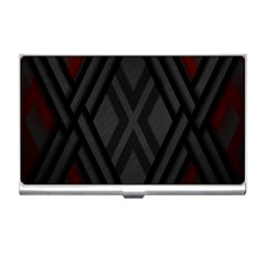 Abstract Dark Simple Red Business Card Holders