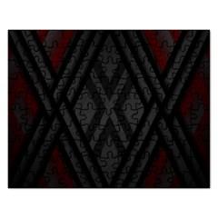 Abstract Dark Simple Red Rectangular Jigsaw Puzzl