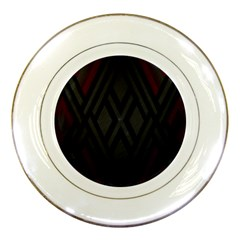 Abstract Dark Simple Red Porcelain Plates