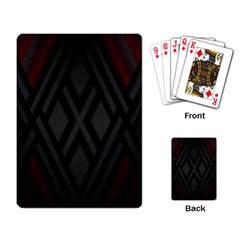Abstract Dark Simple Red Playing Card