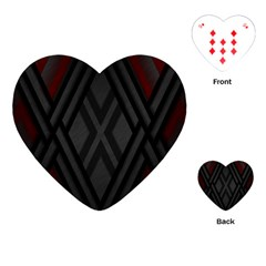 Abstract Dark Simple Red Playing Cards (Heart)