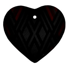Abstract Dark Simple Red Heart Ornament (Two Sides)