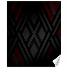 Abstract Dark Simple Red Canvas 16  X 20
