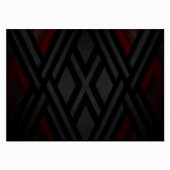 Abstract Dark Simple Red Large Glasses Cloth (2-Side)