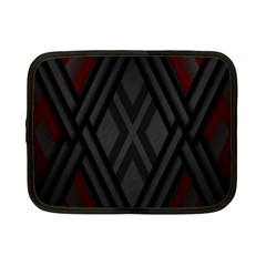 Abstract Dark Simple Red Netbook Case (Small)