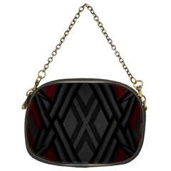 Abstract Dark Simple Red Chain Purses (two Sides)