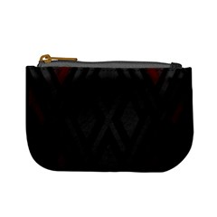 Abstract Dark Simple Red Mini Coin Purses