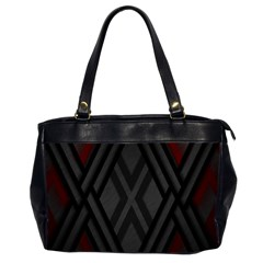 Abstract Dark Simple Red Office Handbags (2 Sides)