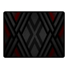 Abstract Dark Simple Red Fleece Blanket (small)