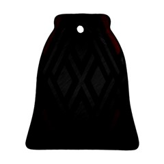 Abstract Dark Simple Red Bell Ornament (Two Sides)