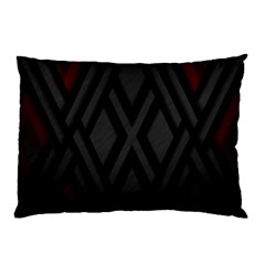 Abstract Dark Simple Red Pillow Case (Two Sides)