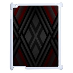 Abstract Dark Simple Red Apple iPad 2 Case (White)