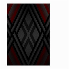 Abstract Dark Simple Red Small Garden Flag (Two Sides)