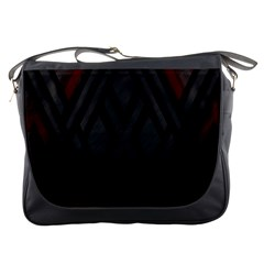 Abstract Dark Simple Red Messenger Bags