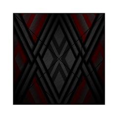 Abstract Dark Simple Red Acrylic Tangram Puzzle (6  x 6 )