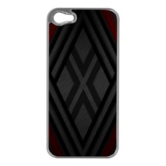 Abstract Dark Simple Red Apple Iphone 5 Case (silver)