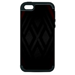 Abstract Dark Simple Red Apple iPhone 5 Hardshell Case (PC+Silicone)