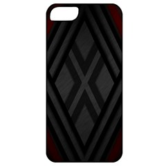 Abstract Dark Simple Red Apple iPhone 5 Classic Hardshell Case