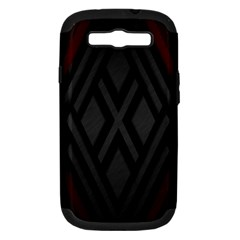 Abstract Dark Simple Red Samsung Galaxy S III Hardshell Case (PC+Silicone)