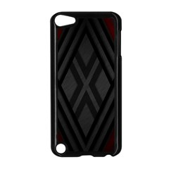Abstract Dark Simple Red Apple iPod Touch 5 Case (Black)