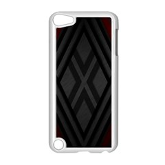Abstract Dark Simple Red Apple iPod Touch 5 Case (White)