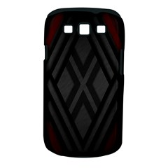 Abstract Dark Simple Red Samsung Galaxy S III Classic Hardshell Case (PC+Silicone)