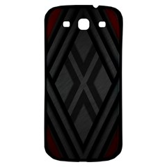 Abstract Dark Simple Red Samsung Galaxy S3 S III Classic Hardshell Back Case
