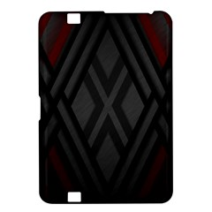 Abstract Dark Simple Red Kindle Fire HD 8.9