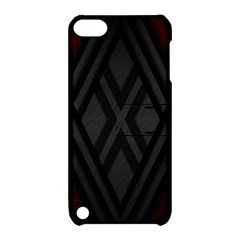 Abstract Dark Simple Red Apple iPod Touch 5 Hardshell Case with Stand