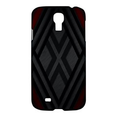 Abstract Dark Simple Red Samsung Galaxy S4 I9500/i9505 Hardshell Case