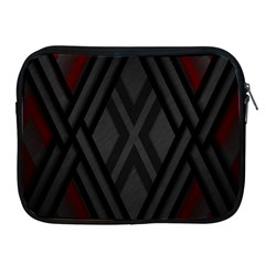 Abstract Dark Simple Red Apple Ipad 2/3/4 Zipper Cases