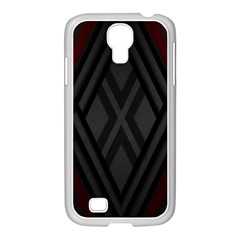 Abstract Dark Simple Red Samsung GALAXY S4 I9500/ I9505 Case (White)